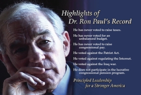 Why Ron Paul Runs - Principled Stands